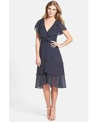 Navy Polka Dot Casual Dress