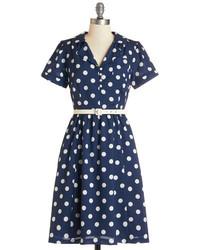 Kenzo Polka Dot Long Sleeve Dress Navy Where To Buy
