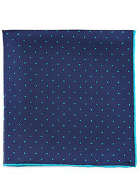 Navy Polka Dot Cotton Pocket Square