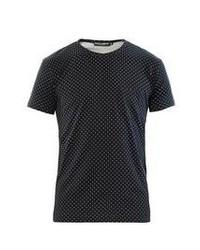 Navy Polka Dot Crew-neck T-shirt