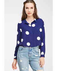 Buttoned polka dot shirt medium 175891