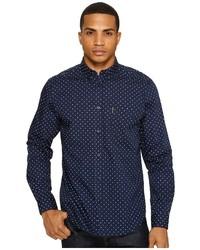 Ben Sherman Long Sleeve Classic Polka Dot Shirt Clothing