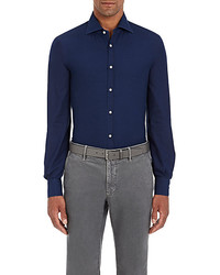 Isaia Polka Dot Cotton Shirt
