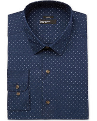 Bar III Slim Fit Stretch Easy Care Polka Dot Print Dress Shirt Created For Macys