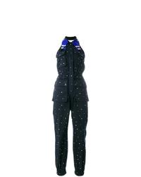 Miu Miu Embellished Denim Jumpsuit