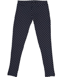 Navy Polka Dot Leggings