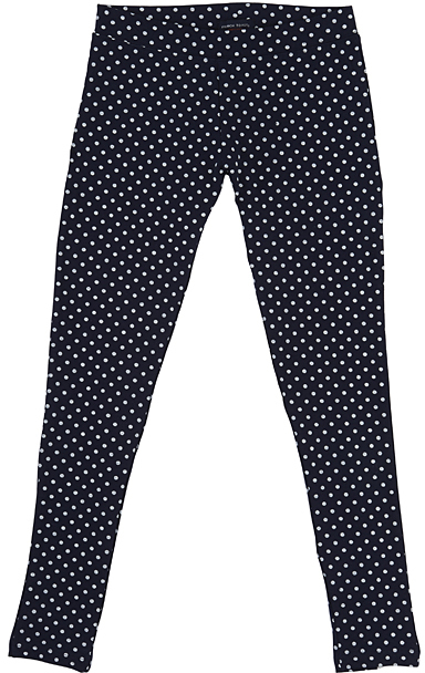 Dark Navy Polka Dot Leggings Girls