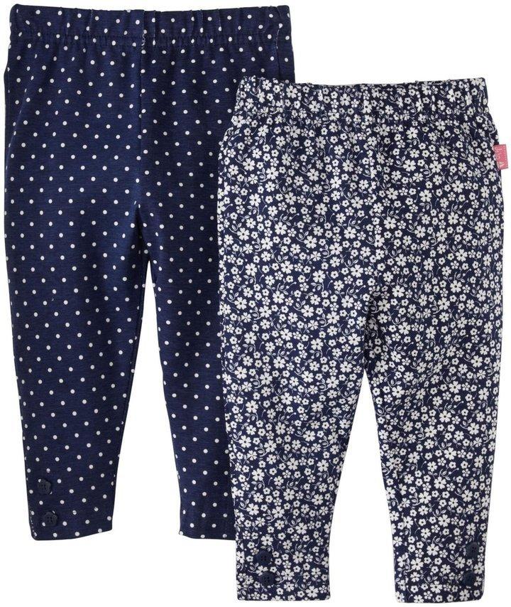 Jo-Jo Jojo Maman Bebe 2 Pack Floral Leggings Navy Ditsy 12 18 Months