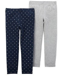 Just One You Made By Carter Just One Youmade By Carters Girls 2 Pack Polka Dot Leggings Navyheather Grey