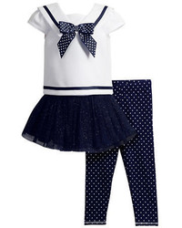Sweet Heart Rose Sweetheart Rose Three Piece Sailor Top Skirt Dress And Leggings Set