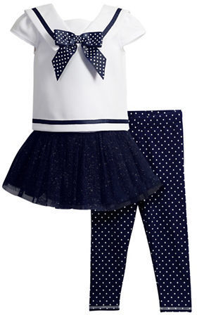 Sweet Heart Rose Sweetheart Rose Three Piece Sailor Top Skirt Dress And Leggings Set