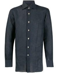 Kiton Dotted Long Sleeve Shirt