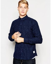 Bellfield Flannel Polka Dot Shirt