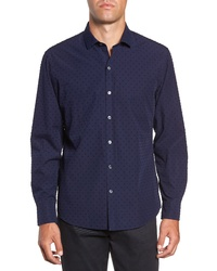Zachary Prell Frarielle Regular Fit Fil Coupe Sport Shirt