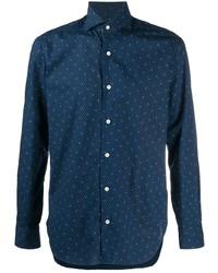 Barba Micro Print Long Sleeved Shirt