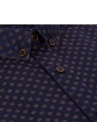 Paul Smith Navy Polka Dot Button Down Shirt