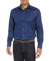 PETER MILLAR COLLECTION Regular Fit Dot Print Sport Shirt