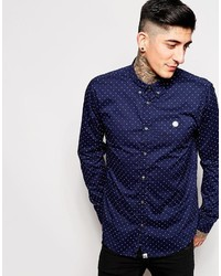 Pretty Green Shirt With Polka Dot Print