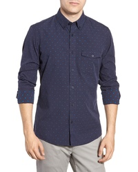Nordstrom Men's Shop Slim Fit Dobby Check Sport Shirt