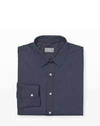 Club Monaco Slim Fit Polka Dot Dress Shirt