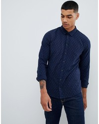 BLEND Slim Fit Shirt With Micro Dot Print