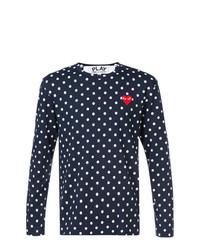 Navy Polka Dot Long Sleeve T-Shirt