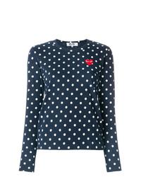 Comme Des Garcons Play Comme Des Garons Play Polka Dot Heart Logo T Shirt