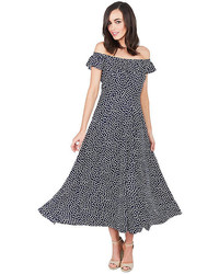 Betsey Johnson Tiny Dots Ruffle Neck Dress