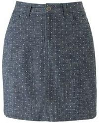 Croft barrow classic fit polka dot chambray skort medium 47400