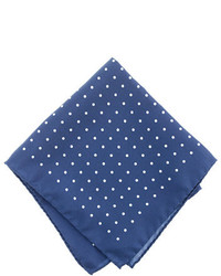 Italian silk pocket square in classic dot medium 255906