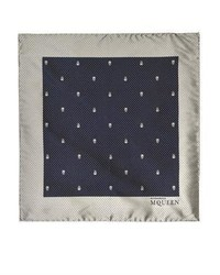 Alexander McQueen Mini Skull Print Pocket Square
