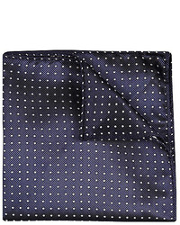 River Island Navy Polka Dot Pocket Square