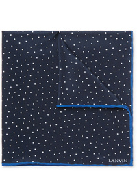 Lanvin Polka Dot Silk Pocket Square