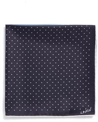 Lanvin Polka Dot Silk Pocket Square Purple