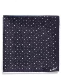 Lanvin Polka Dot Silk Pocket Square Purple