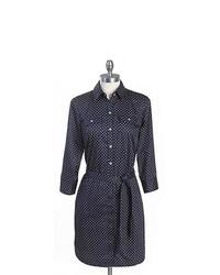 Tommy hilfiger dot shirtdress medium 209568