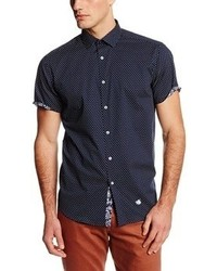 Stone rose dot short sleeve woven shirt medium 57857