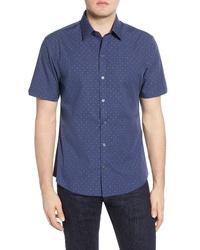 Zachary Prell Tayport Regular Fit Short Sleeve Button Up Sport Shirt