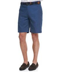 Navy Polka Dot Shorts