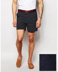 Asos Brand Slim Fit Shorts In Polka Dot