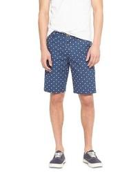 No Retreat Polka Dot Cuffed Shorts Navy