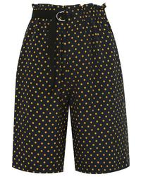 Joseph Luis Polka Dot Silk Georgette Shorts