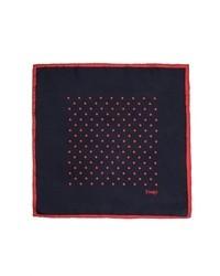 Drakes spot silk pocket square medium 30543
