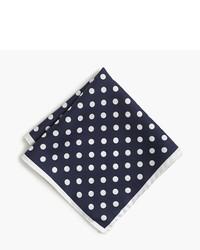 English silk pocket square in polka dot medium 822010