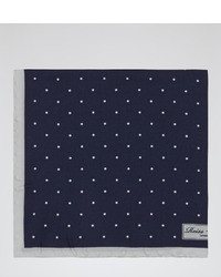 Reiss Garbo Silk Polka Dot Pocket Square