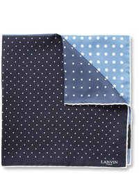 Lanvin Polka Dot Print Silk Pocket Square
