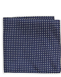 Saks Fifth Avenue Polka Dot Silk Pocket Square