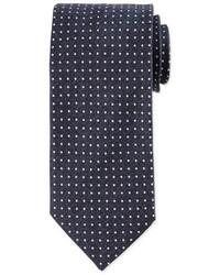 Eton Micro Dot Print Silk Tie Blue