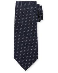 Micro dot print silk tie medium 826364