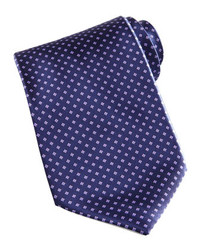 Mini flower silk tie navy medium 179233